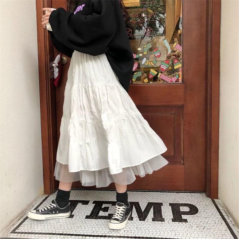 Длинная юбка из фатина Ykangs S08115 с Алиэкспресс