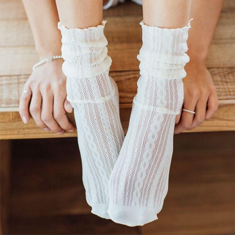 Кружевные носки Goss AN-18826 с Алиэкспресс