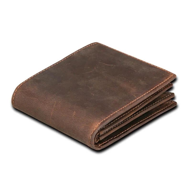 Мужской кошелёк из натуральной кожи Machossy CNC-D005 с Алиэкспресс