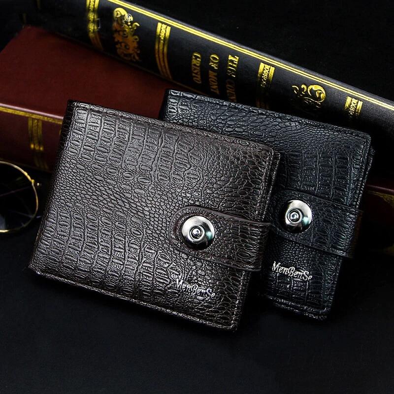 Мужской кошелёк из PU кожи Short Wallet с Алиэкспресс