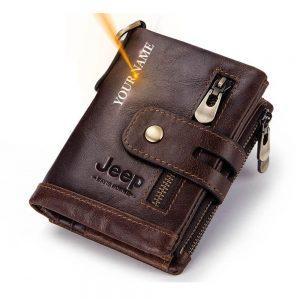 Мужской кожаный кошелёк Humerpaul BP829 с Алиэкспресс