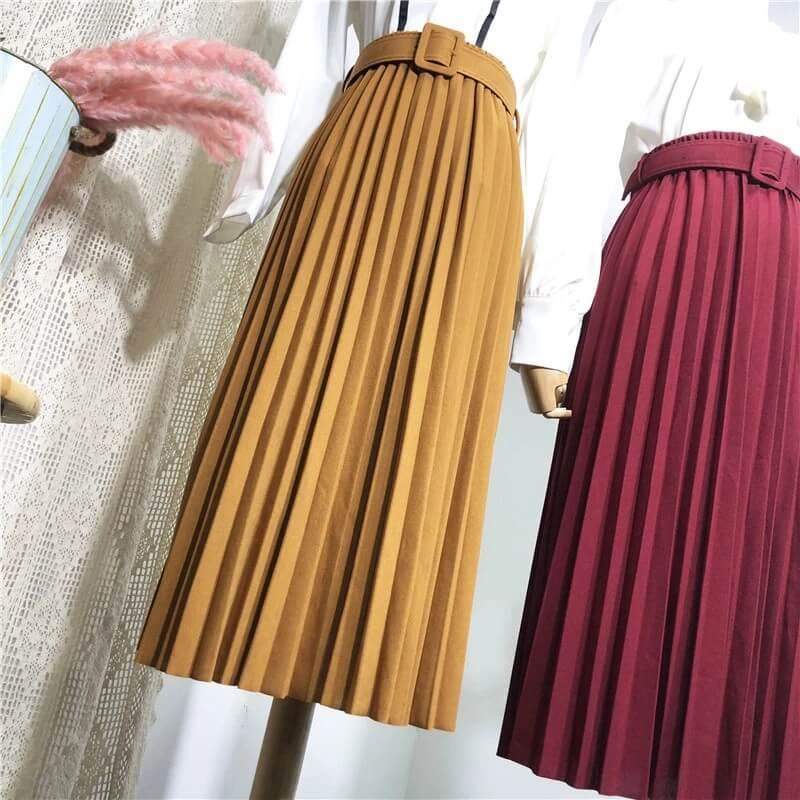 Плиссированная юбка-миди Beiyingni с Алиэкспресс