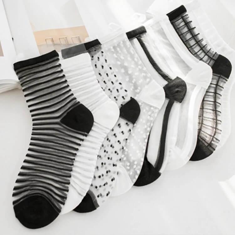Прозрачные женские носки Rumila с Алиэкспресс