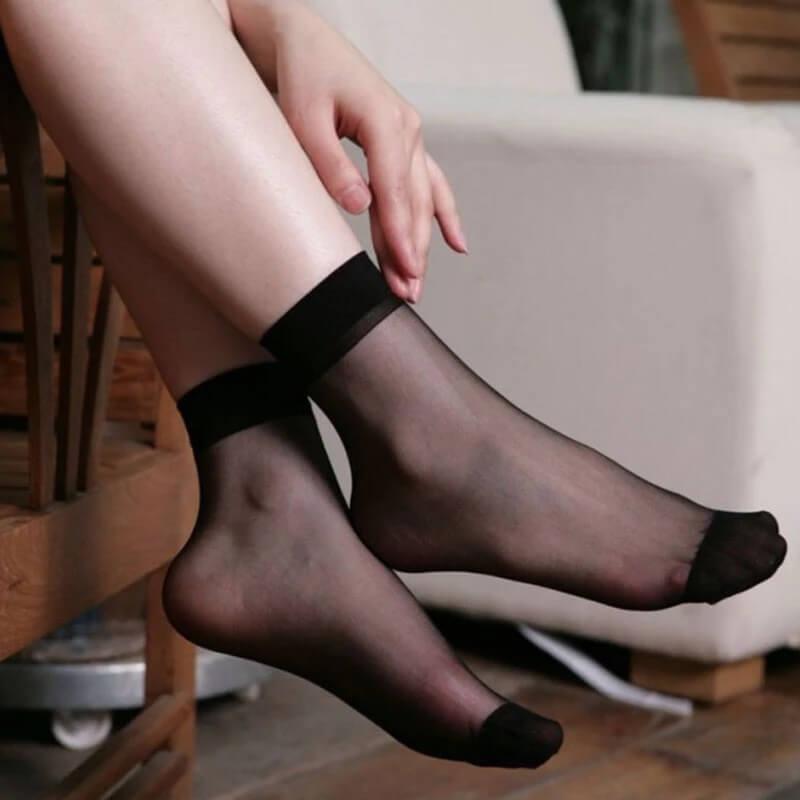 Шёлковые женские носки Mimicoo J-A11305 с Алиэкспресс