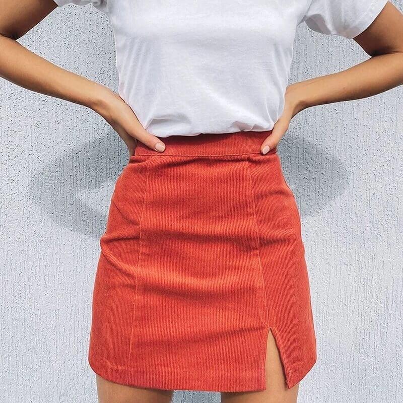 Вельветовая юбка Carewell с Алиэкспресс