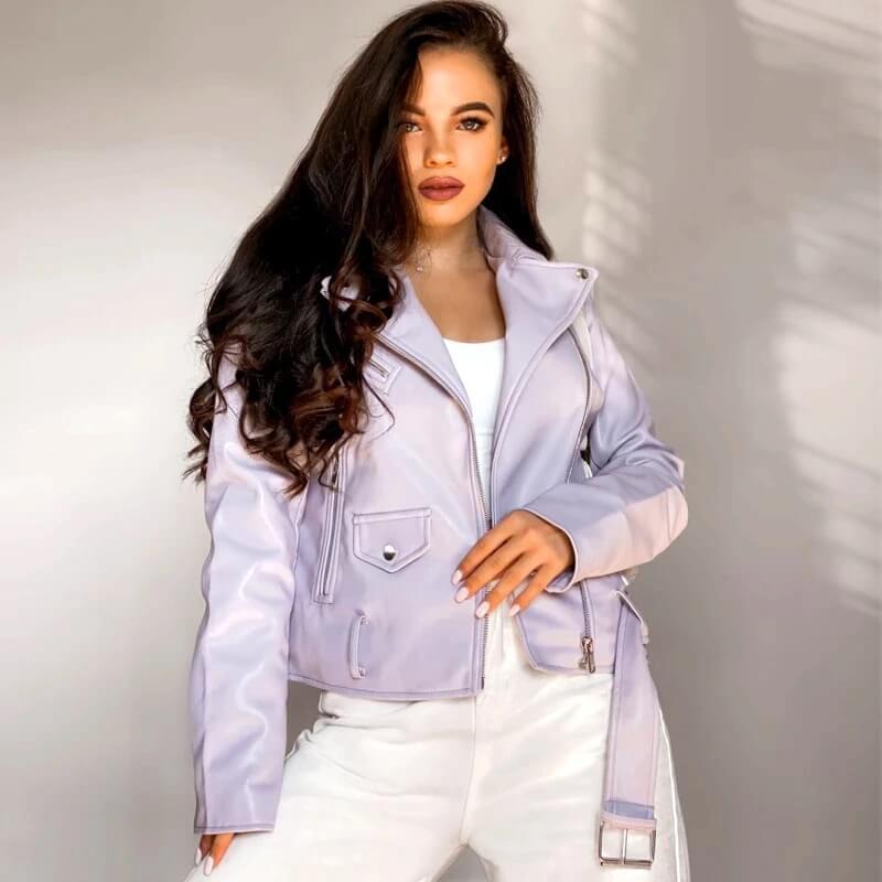 Женская куртка из PU кожи с Алиэкспресс