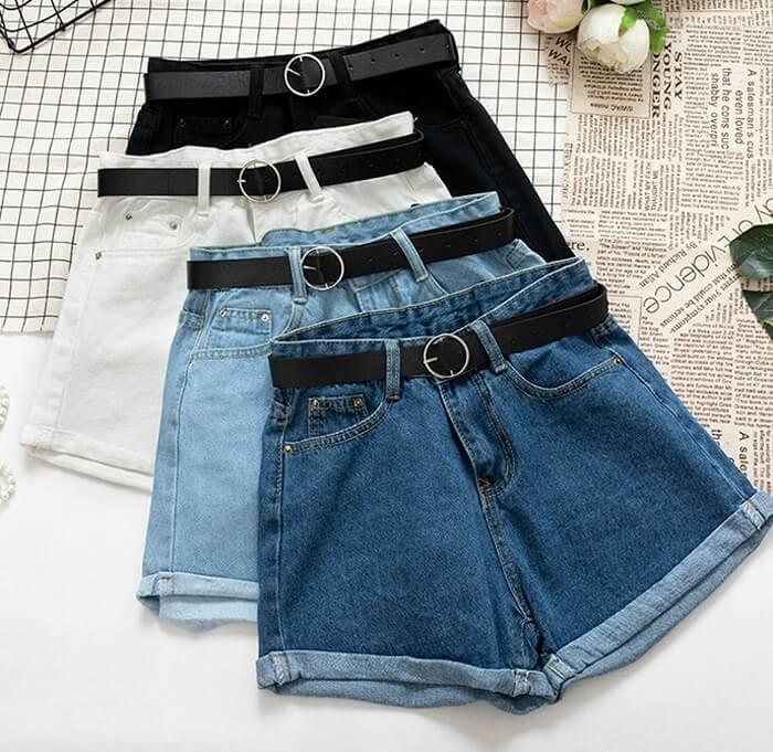 Женские джинсовые шорты Yuoomuoo с Алиэкспресс