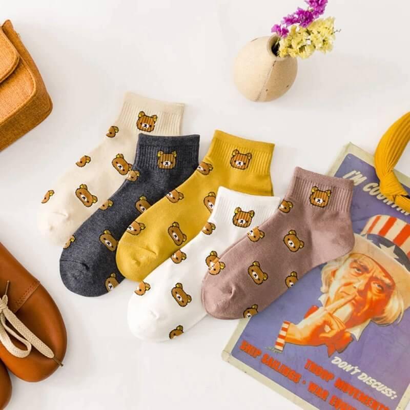 Женские носки с принтом Shop5729278 с Алиэкспресс