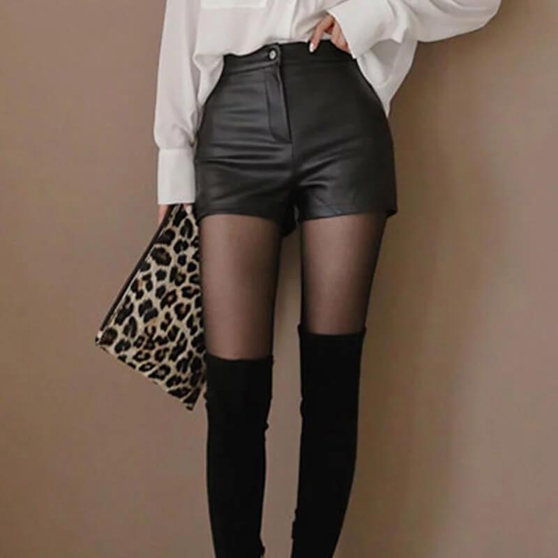 Женские шорты из искусственной кожи SymorHouse с Алиэкспресс