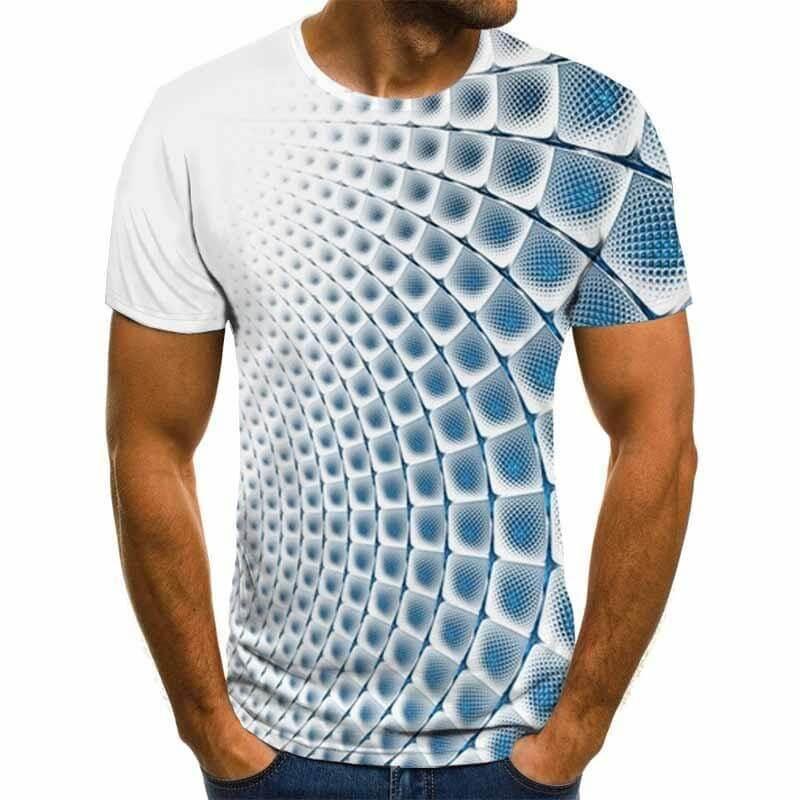 Мужская футболка c 3D-принтом Small Fish с Алиэкспресс