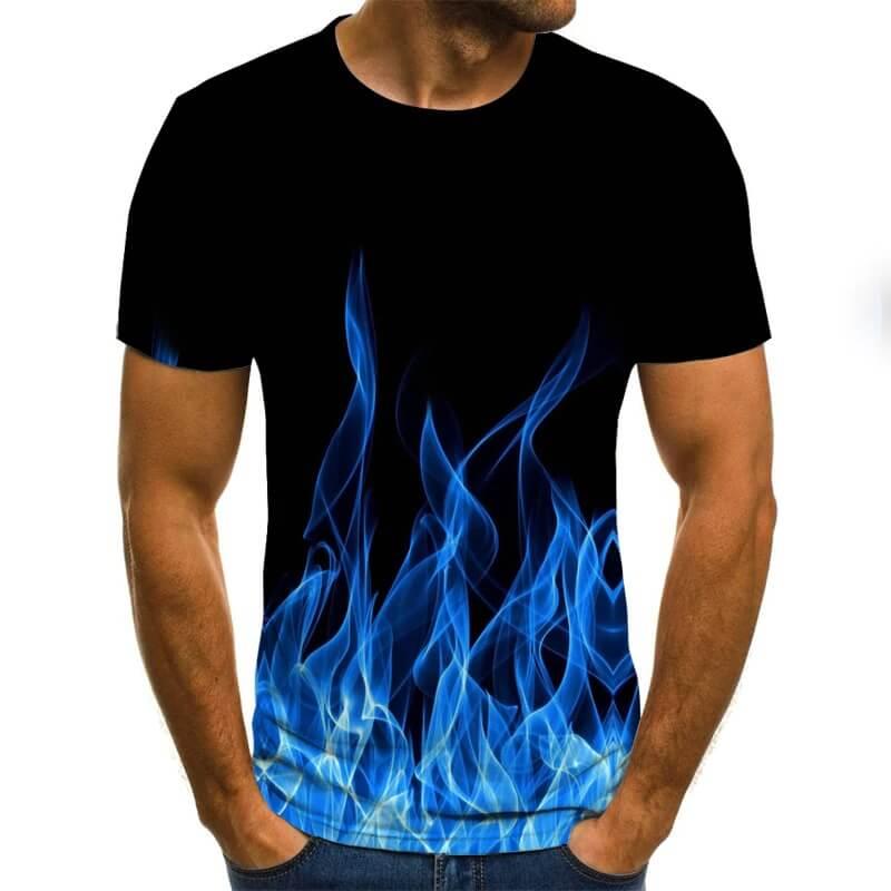 Мужская футболка с рисунком пламени Himobeans с Алиэкспресс