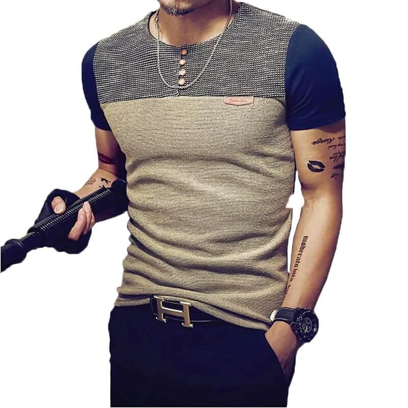 Мужская вязаная футболка Lifen wen na с Алиэкспресс