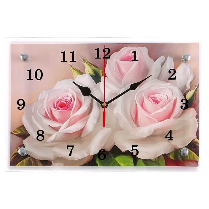 """Настенные часы """"Розы"""" с Алиэкспресс"""