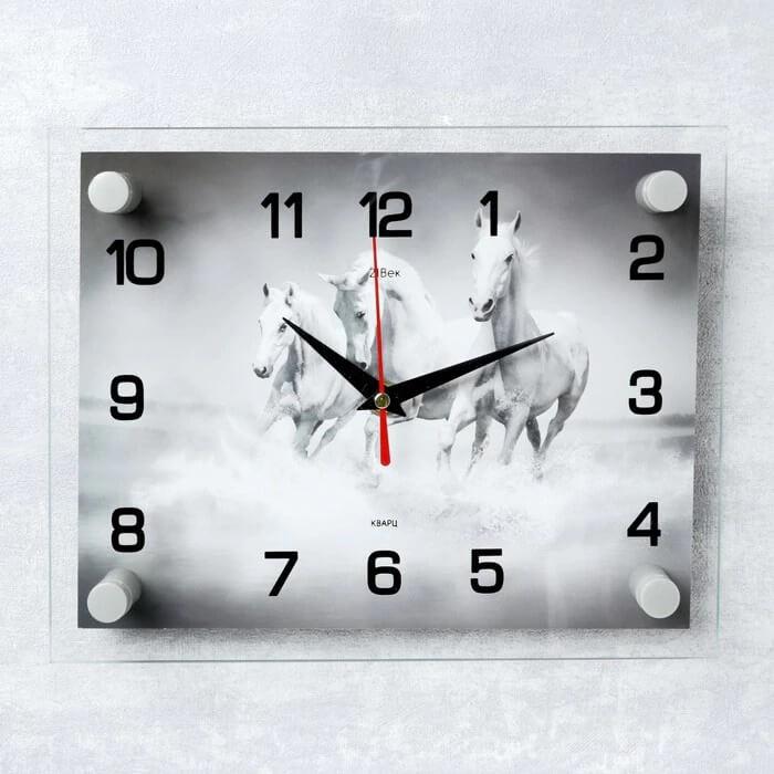 Настенные часы Тройка лошадей с Алиэкспресс