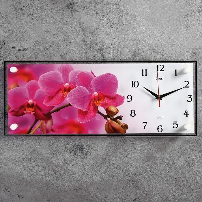 """Настенные часы-картина """"Ветка розовых орхидей"""" с Алиэкспресс"""