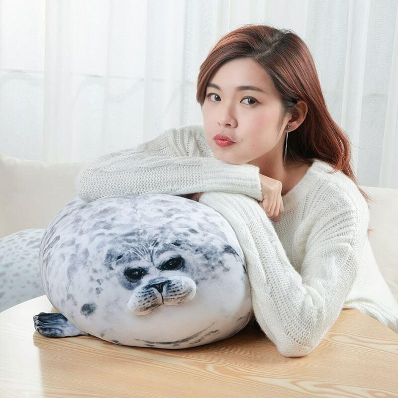Мягкая подушка тюлень с Алиэкспресс