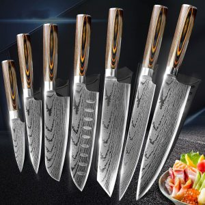 Набор кухонных ножей Myvit 7CR17 440C с Алиэкспресс