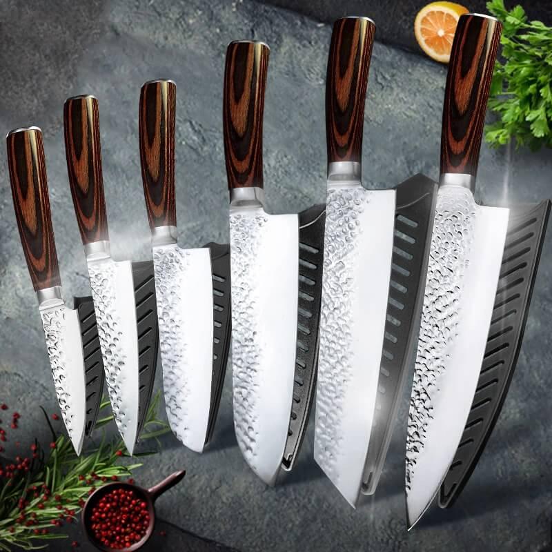 Набор кухонных ножей Myvit GK6MK-7CR с Алиэкспресс