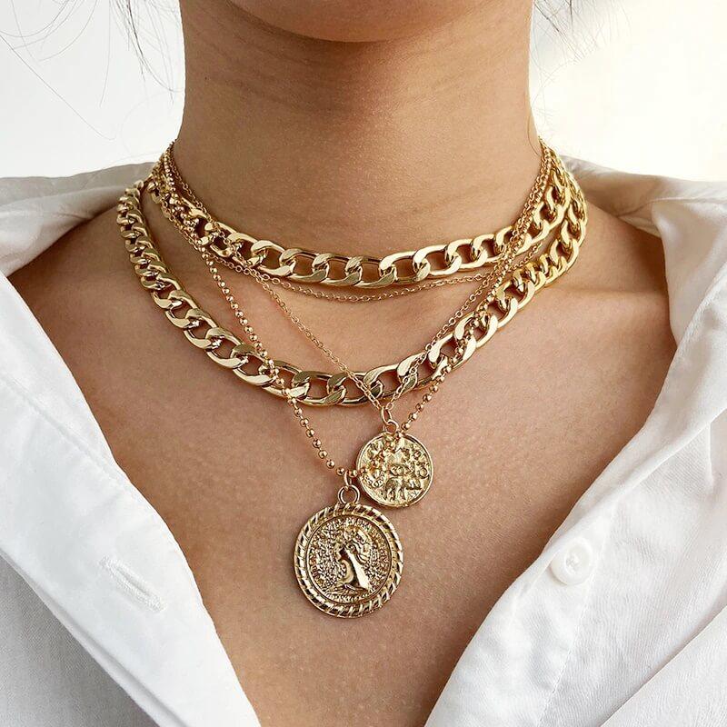 Массивное женское ожерелье 17KM с Алиэкспресс