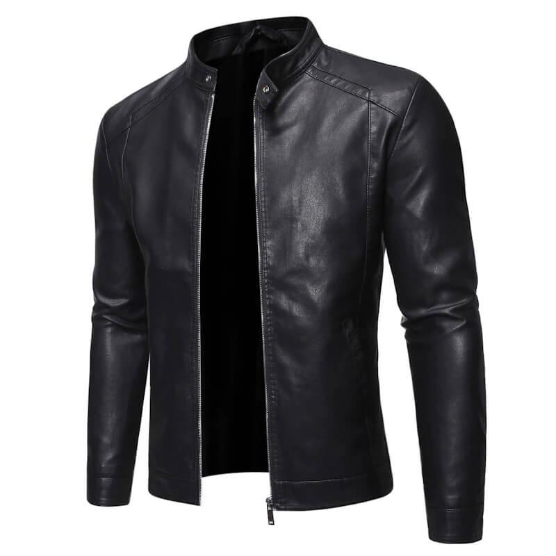 Мужская кожаная куртка Grandwish ZA318 с Алиэкспресс
