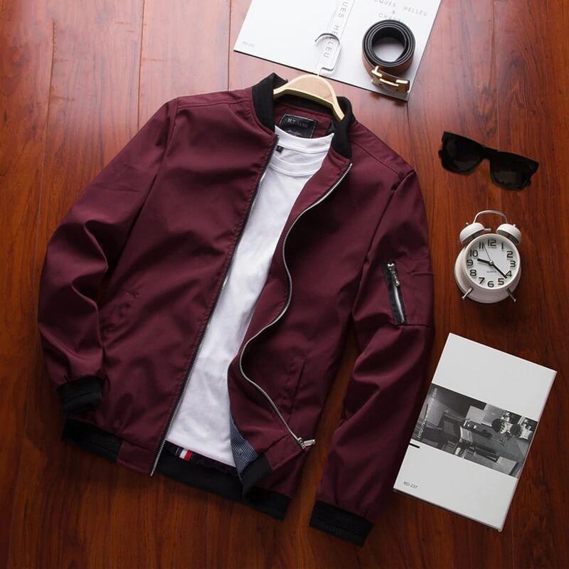Мужская куртка-бомбер Dimusi TA214 с Алиэкспресс