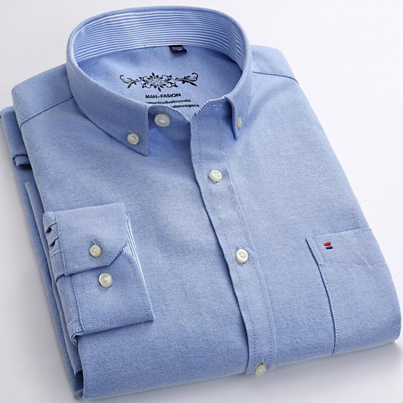 Мужская рубашка с длинным рукавом Mengquan с Алиэкспресс