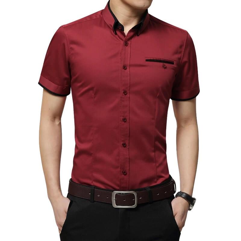 Мужская рубашка с коротким рукавом Browon с Алиэкспресс