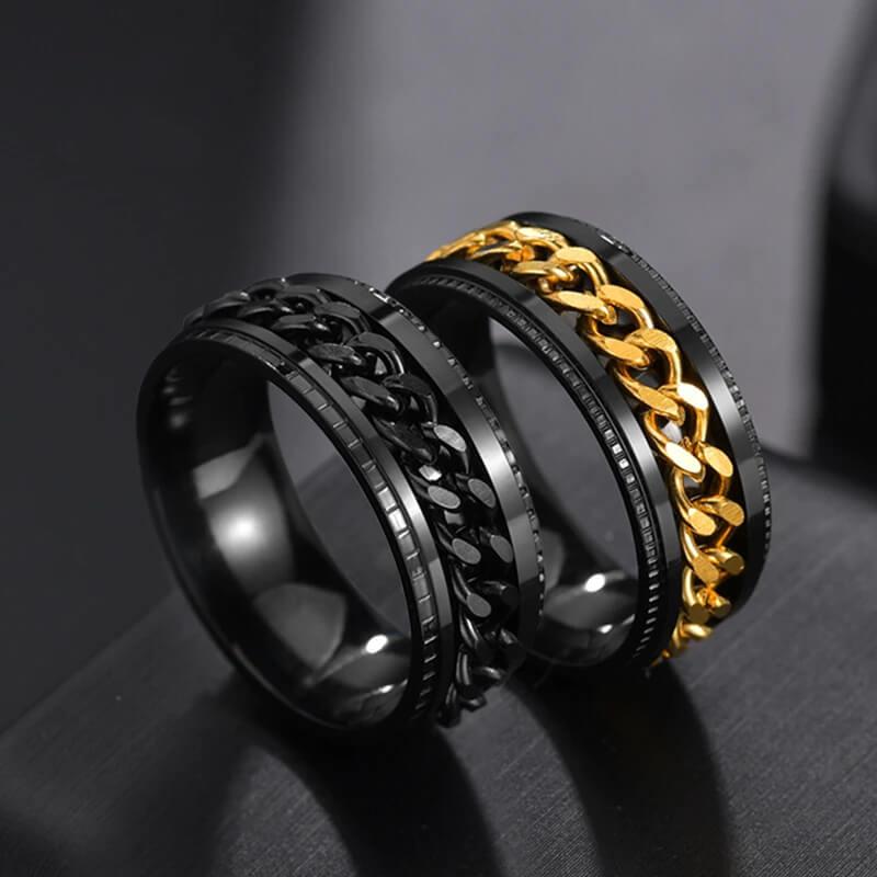 Мужское кольцо с вращающейся сердцевиной Letdiffery с Алиэкспресс