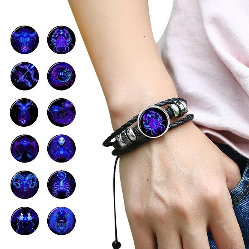 Мужской браслет на руку со знаком зодиака Soulglass с Алиэкспресс