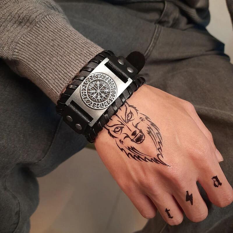 Мужской браслет на руку в стиле викингов Vnox с Алиэкспресс