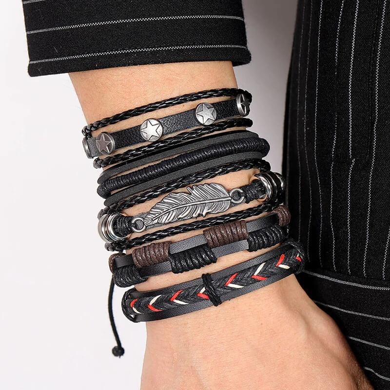 Мужской кожаный браслет на руку DAXI с Алиэкспресс