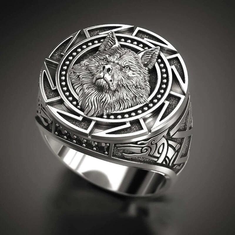 Мужской перстень в стиле викингов Marcatsa с Алиэкспресс