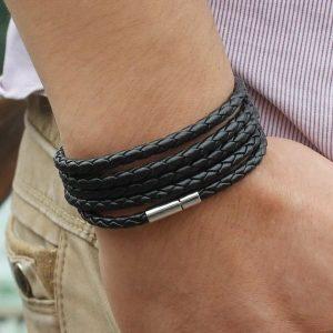 Мужской плетёный браслет на руку Xqni с Алиэкспресс