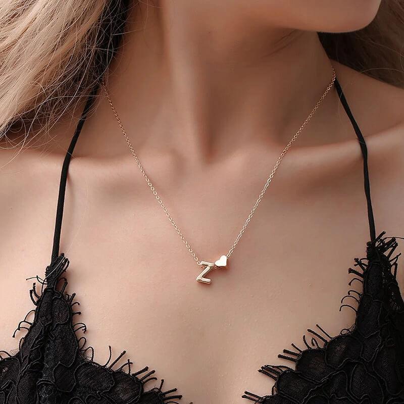 Женская цепочка на шею с буквой Sumeng с Алиэкспресс