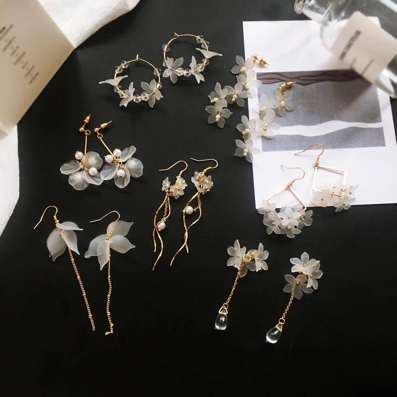 Женские серьги с цветочным узором Bilandi с Алиэкспресс