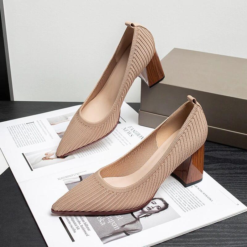 Женские туфли на толстом каблуке Wigqcy с Алиэкспресс