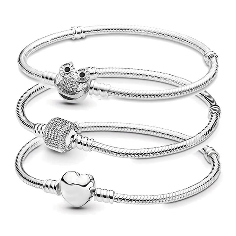 Женский браслет с серебряным покрытием Boosbiy с Алиэкспресс