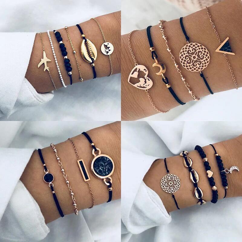 Женский браслет-цепочка на руку Wkoud с Алиэкспресс