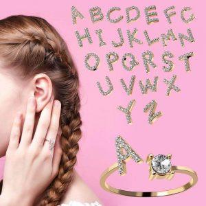 Женское кольцо с буквой Rinhoo с Алиэкспресс