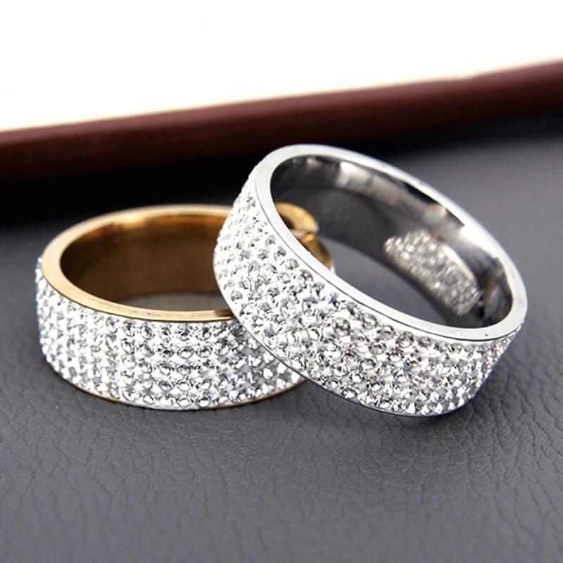 Женское обручальное кольцо Ekustyee с Алиэкспресс