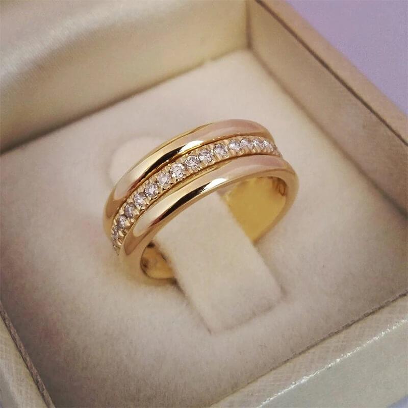 Женское обручальное кольцо Huitan с Алиэкспресс