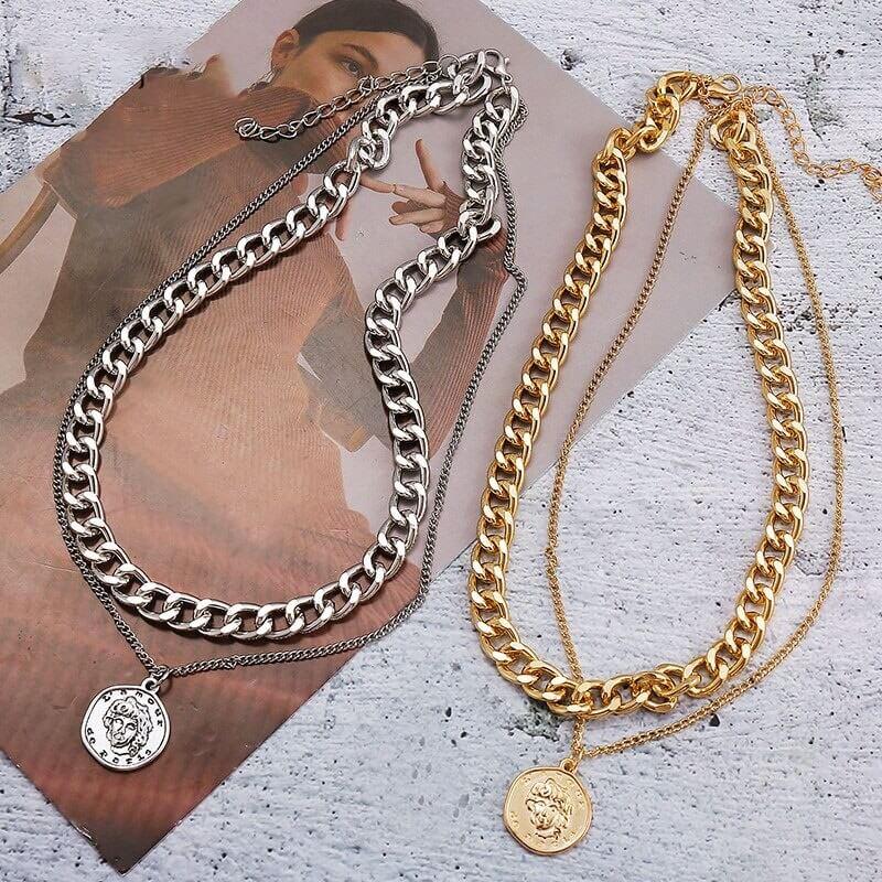Женское ожерелье с монеткой 17KM с Алиэкспресс