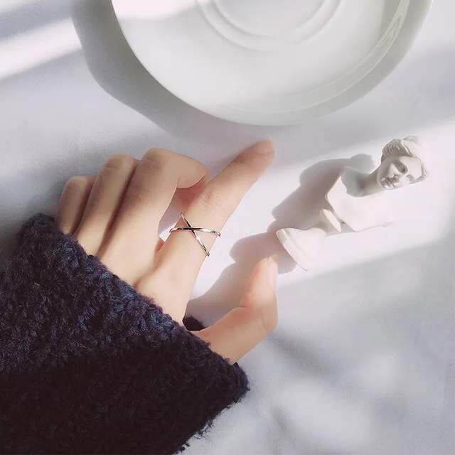 Женское серебряное кольцо 925 пробы Bfclub с Алиэкспресс
