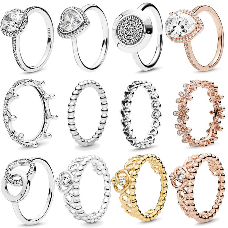 Женское серебряное кольцо 925 пробы Butuna с Алиэкспресс