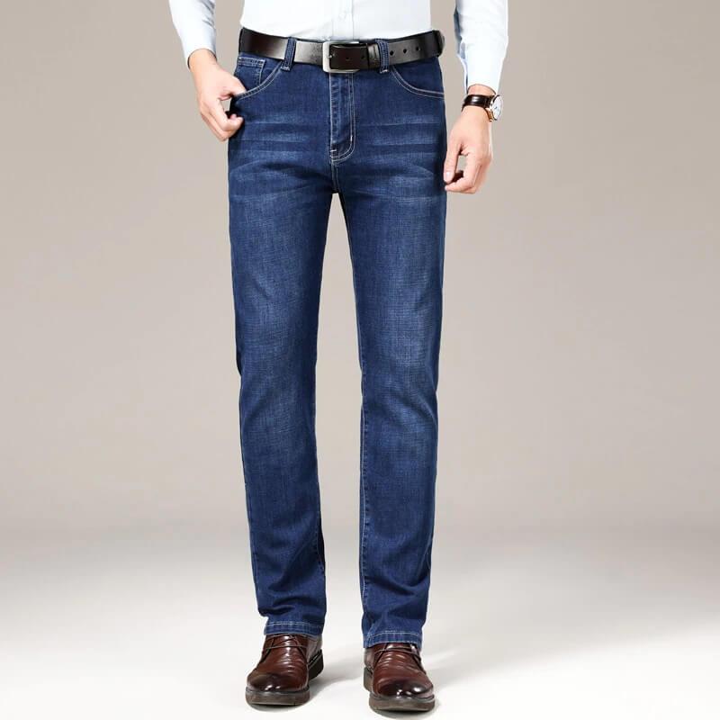 Мужские прямые джинсы Jantour с Алиэкспресс