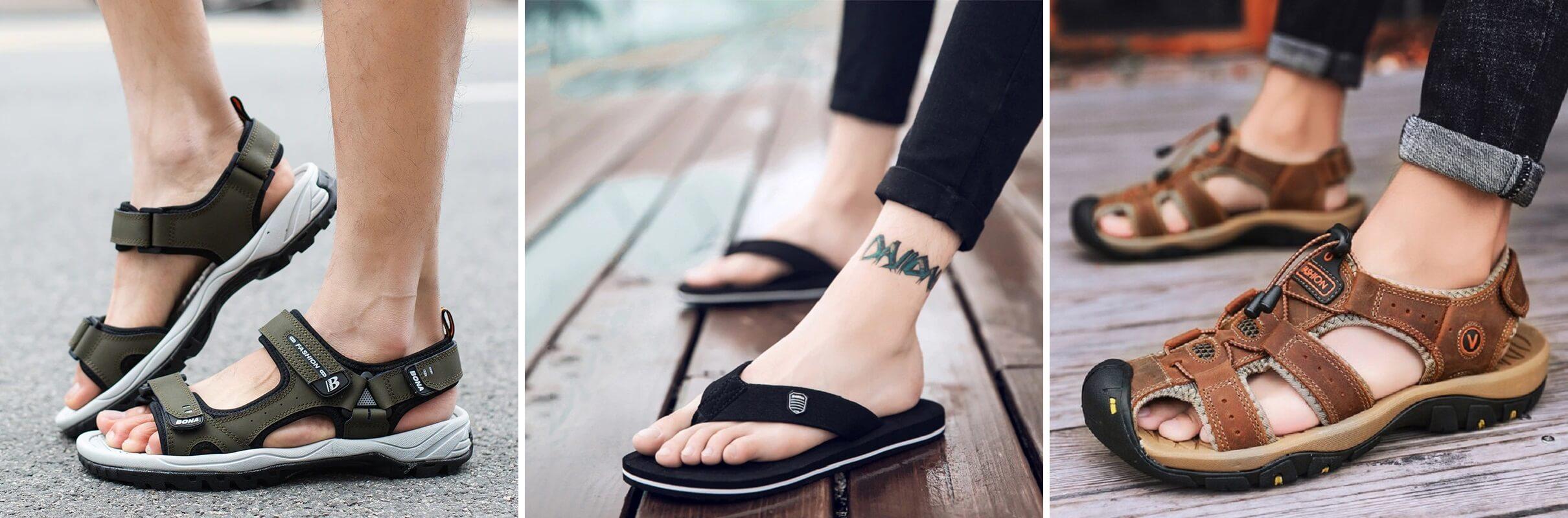 ТОП-10 мужских сандалий и шлёпанцев с Алиэкспресс