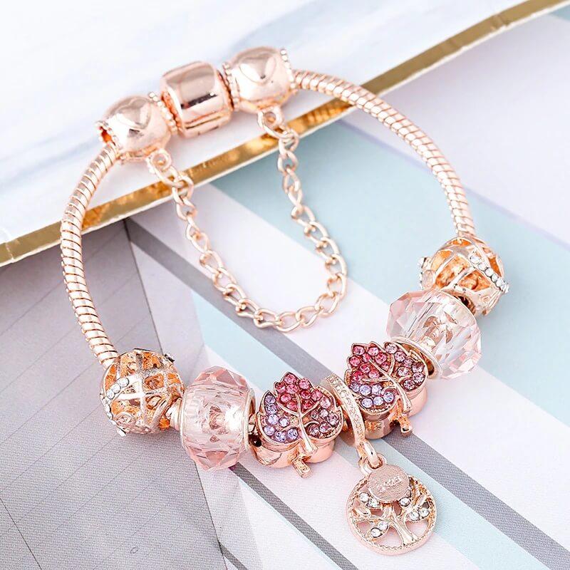 Женский браслет из розового золота Brace Code с Алиэкспресс