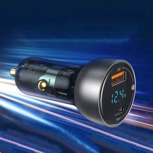 Автомобильная зарядка для телефона Baseus USB + Type-C с Алиэкспресс