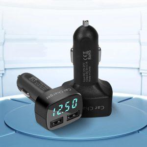 Автомобильная зарядка для телефона Carsun 2 порта с Алиэкспресс