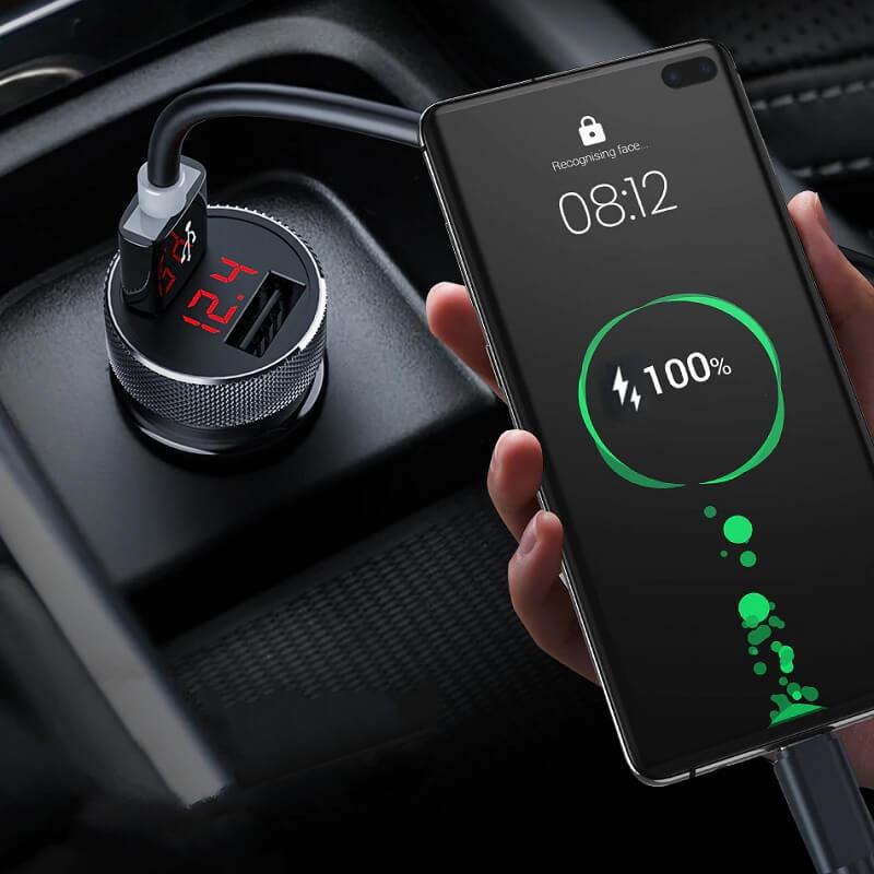 Автомобильная зарядка для телефона Keyvovo с Алиэкспресс